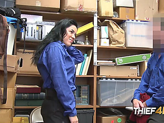 Monica dreadful face holes intimate officer after being caught shoplifting