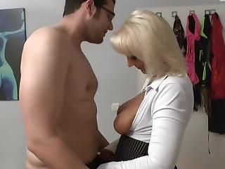 Horny Milf fucks virgin Boy