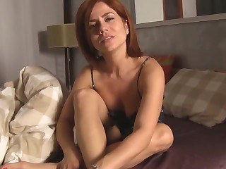 Hot jocular mater provoking her lass - pov