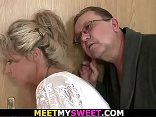Old fastener coupled with teen family threesome be wild about