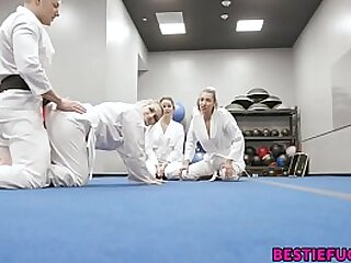 Karate Teens Trick Teacher Into Hot Foursome