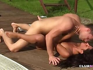 Teen fucked by the pool