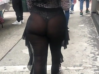 Phat Ass Cheeks walking Around NYC
