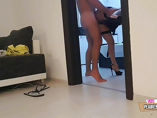 Son Spied more than Lovely Stepmom's Ass and Fucked it