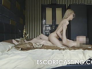 Skinny Light-complexioned Teen Escort Anal Casting