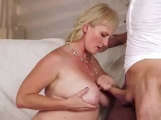 Milf blonde anal with lad anal and pussy Monika Wipper