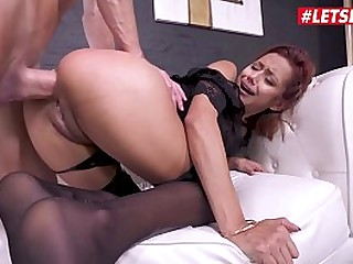 LETSDOEIT - Sexy Teen Latina Veronica Leal Has Rough Anal Sex And Rain Very Often Thanks To This Stallion