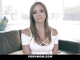PervMom - Pretty Latina Stepmom Helps Her Stepson To Cum