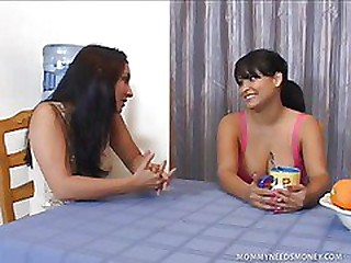 Busty Latina and Friend Share Cock Be beneficial to Cash