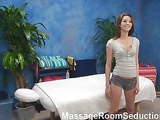 Gia seduced and fucked away from her rub down psychoanalyst on hidden camera