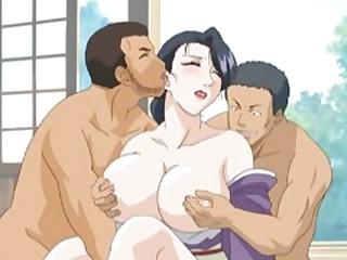 Fat nipples Japanese hentai gangbanged by ghetto anime guys