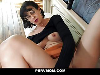 PervMom - Teen Cums Essentially His Stepmom's Big Tits