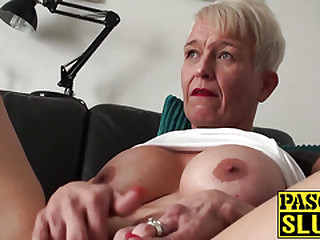 Misapplied mature whore was waiting all day to be his intercourse slave
