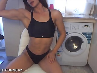 Teen Muscle Flexing