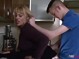Horny milf loves mating with young men