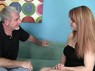 Hot Redhead Young Babysitter applies for the venture increased by takes the big cock